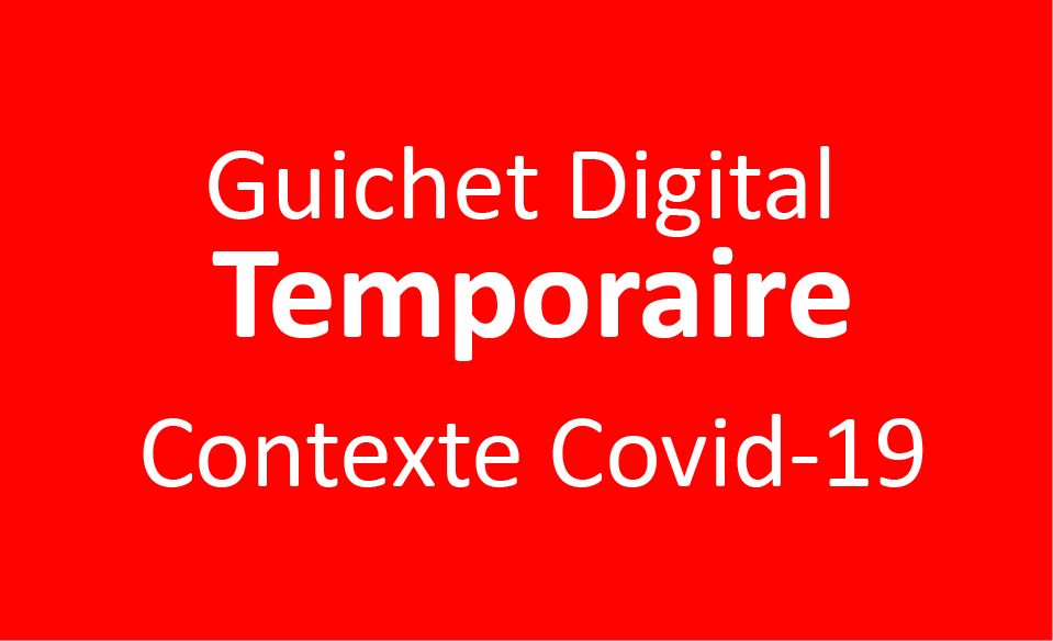 Police on Web - Guichet Digital Temporaire - contexte Covid-19